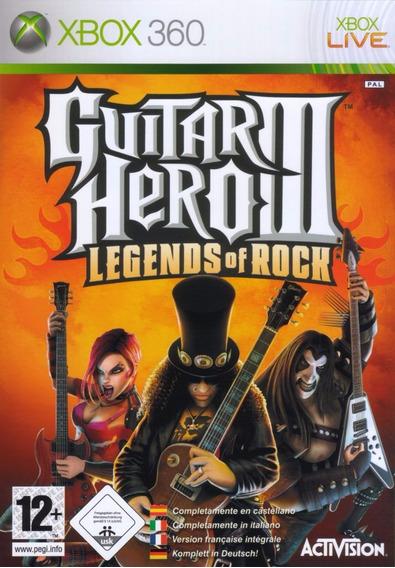 Guitar Hero 3 Iii Legends Of Rock Xbox 360 Original