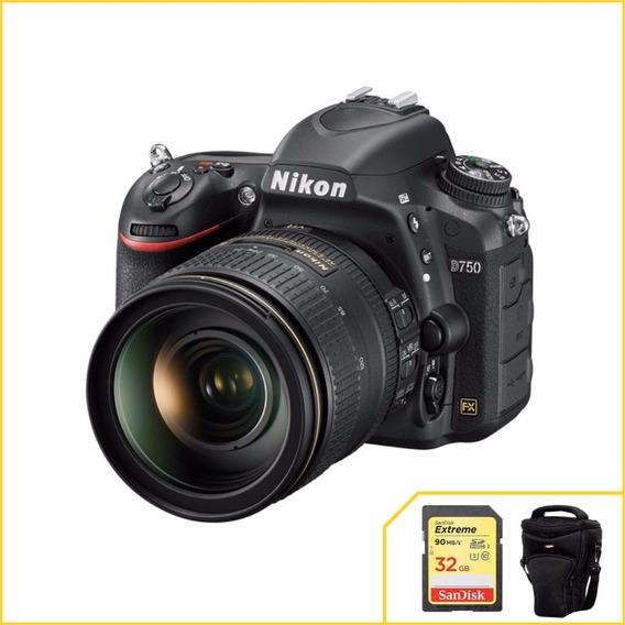Kit Nikon D750 Com 24-120mm F/4g Ed + 2 Anos De Garantia