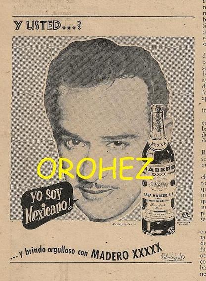 Pedro Infante Raro Anuncio Licor Revista Policía De 1955