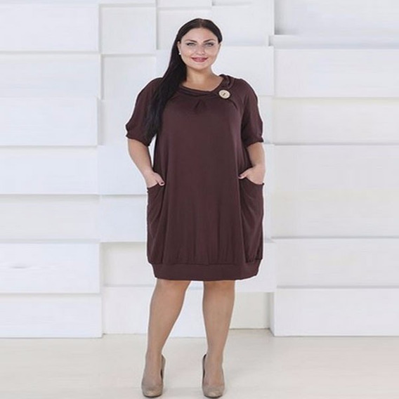 Vestido Fiesta Coqueto Bolsas Sexy Holgado Moda Tallas Extra
