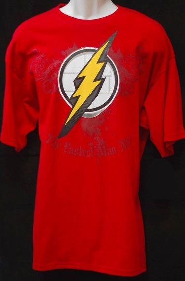 Playera Dc Comics Logo De Flash Grabado Justice League
