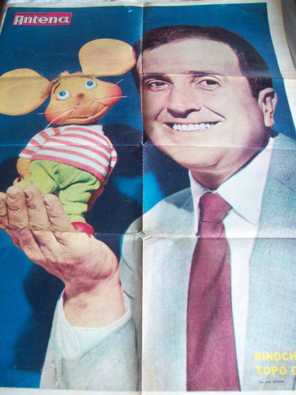 Lamina Retro Coleccion Revista Antena: Pinocho Y Topo Gigio