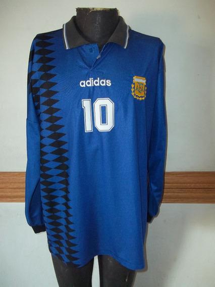 Camiseta De Argentina Temporada 1994 #10 Maradona Talle L