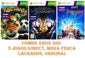 Combo Kinect 3 Jogos Xbox 360, Lacrados