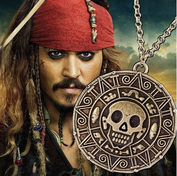 Colar Piratas Do Caribe ( Moeda Pirata ) Envelhecida