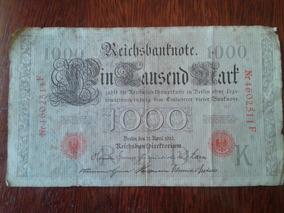 Nota De Mil Marcos De 1910 - Alemanha