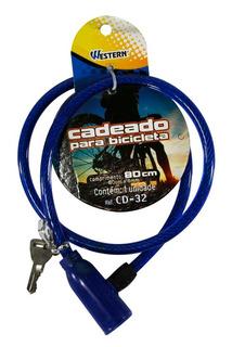 Cadeado Com Cabo De Aço Multiuso P/ Bicicleta Portão Estepe
