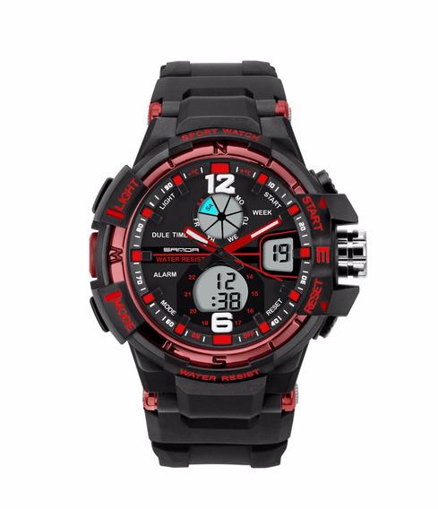Relógio Masculino Esportivo Original Frete Grátis Vermelho