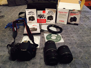 Canon Eos T5 Rebel Reflex Nueva