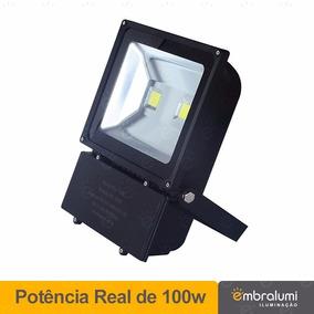 Kit 5 Pç De Refletor De Led 100w Frio Quente Frete Gratis
