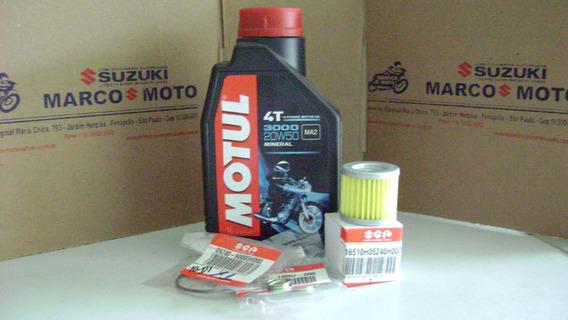 Kit Oleo Motul 3000,filtros Oleo E Oring Burgman I 125