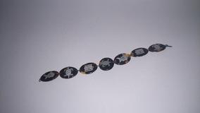 Pulseira Em Tartaruga Com Ornamentos Em Prata