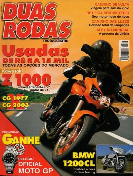 Duas Rodas N°333 Kawasaki Z1000 Bmw R1200cl Honda Cg 125
