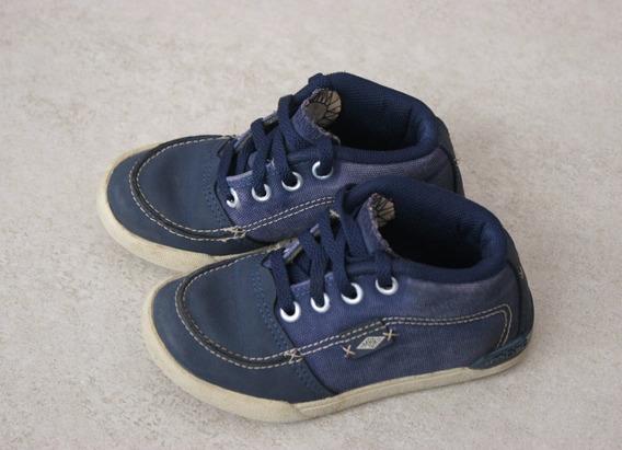 Zapatillas De Cuero Y Lona Importadas Marca Umbro. Talle 24.