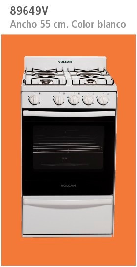 Cocina Volcan 55cm 89649 Multigas Blanca