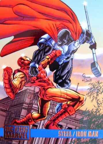 Iron Man / Steel / Dc Vs Marvel Comics Cards 62