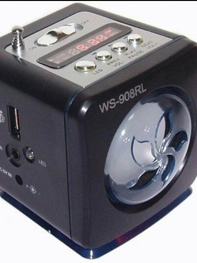 Caixa Caixinha De Som Ws-908 Portátil Usb Pen Drive Radio Fm