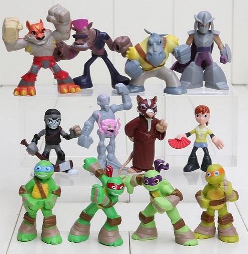 Tartarugas Ninjas April Kraang Mestre Splinter Rocksteady