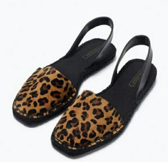 Alpargatas Sandalias Zapatos Zara De Cuero