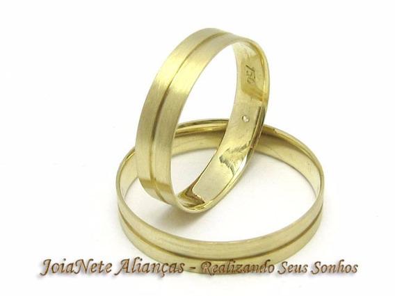 Joianete Par Alianças Ouro18k 6grama 1 Canal S Solda