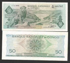 Congo (ex Zaire) 50 Francos 1962 P. 5 S/fe Cédula Tchequito