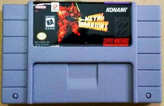 Jogo Metal Warriors Super Nintendo Snes Fita Frete Grátis