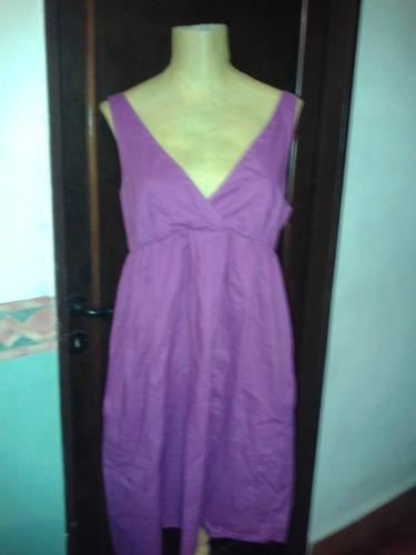 Vestido Solera Violeta.t M.medidas.san Isidro