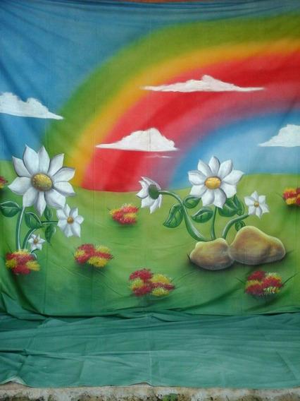 Fundo Fotografico Pintado A Mao