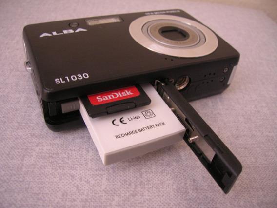 Câmera Alba Sl1030 10mp Preta + Carrregador + Bateria (#4a1)
