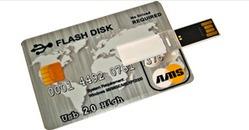 Pen Drive 2gb Ams Tipo Tarjeta De Crédito Incluye Cordón