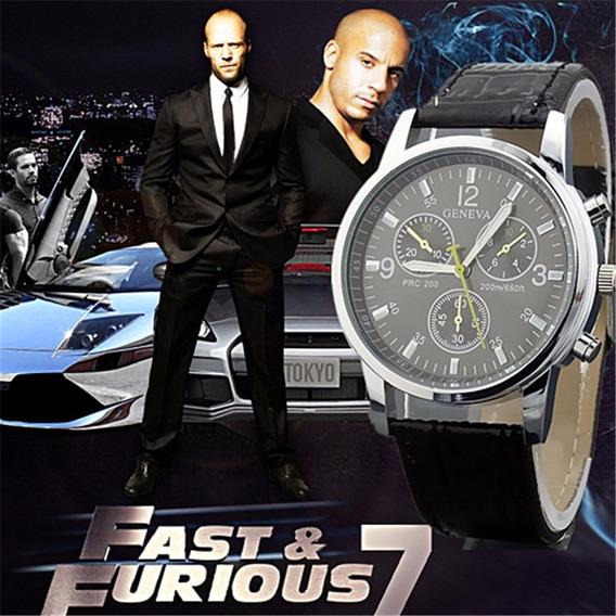 Relógio Masculino Pulseira De Couro + Brinde+ Frete Grátis