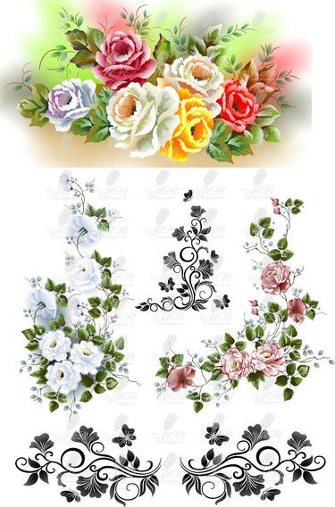 Flores Vetor Florais Rosas Imagens Vetores Corel E Png