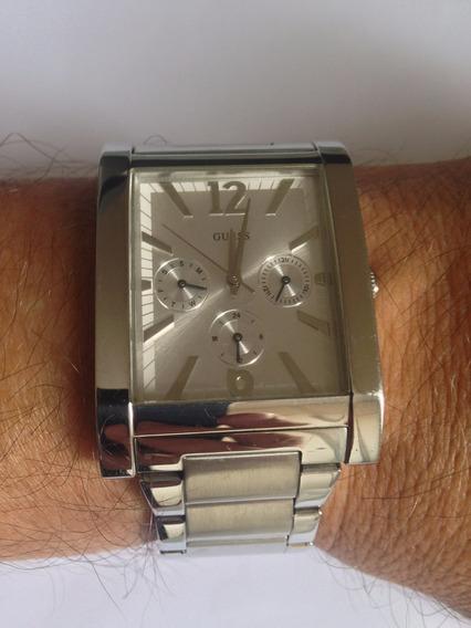 Relógio Guess Quadrado Em Aço