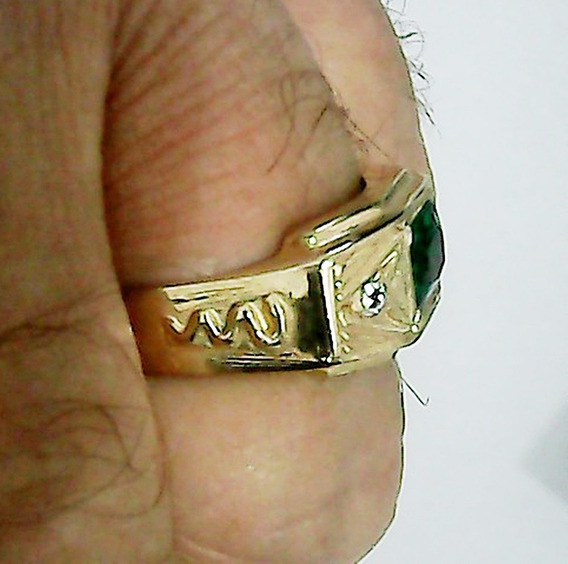 Anel Formatura Medicina Masculino De Prata 950 B Ouro 18k