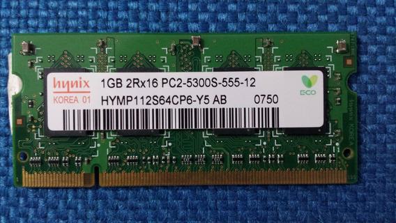 Memoria Ddr2 1gb Hynix Pc-5300 Hymp112s64cp6-y5 Ab