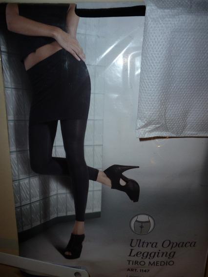 Medias Legging Calza Cocot Negra Ultraopaca Gruesita Promo