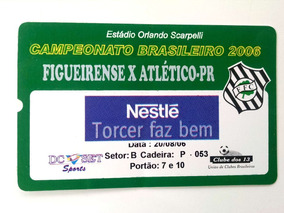 Ingresso Figueirense X Atlético Pr. 2006