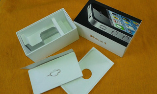 Caixa Vazia Apple iPhone 4black Preto 8gb A1332 Md128br/a.