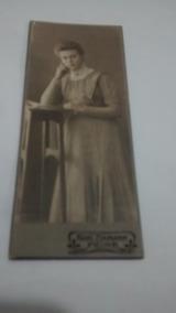 Foto Antiga Em Cartolina Mulher Alema Anos 1800