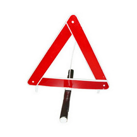 Triangulo De Segurança Branco Base Pesada