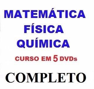 Curso De Matemática + Física + Química Aulas Em 5 Dvds N