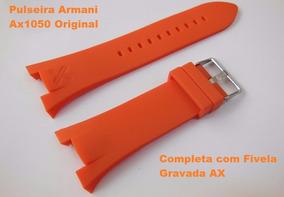 Pulseira Armani Ax1042 Exchange Ax1040 Adp Ax1050 Laranja