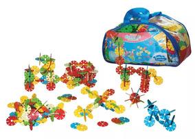 Brinquedo Educativo Peças Blocos De Montar Discos De Encaixe