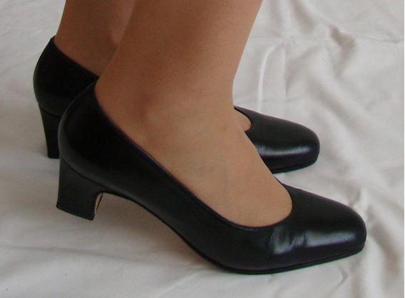 Zapatos Clásicos De Cuero Original, Negros. Un Solo Uso!!!