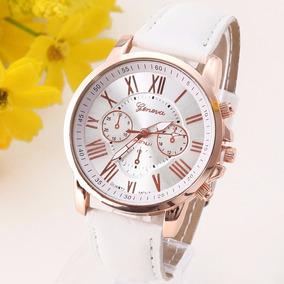 Relógio De Pulso Casual Dress Watch, Pulseira De Couro