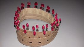 Lote Com 50 Led Fosco Vermelho 3mm
