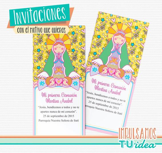 Tarjetas Comunion Para Imprimir Nena Invitaciones