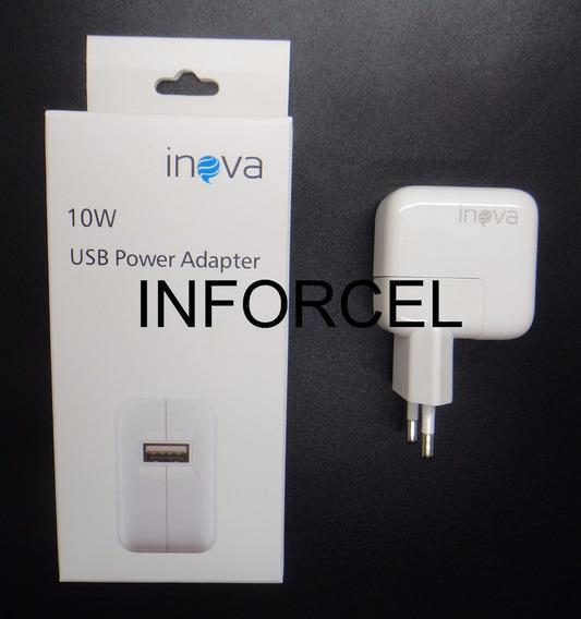 Fonte Carregador 10w 2a iPhone iPod iPad C/ 1 Usb Inova