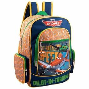 Mochila Backpack Escolar Aviones Disney Ruz