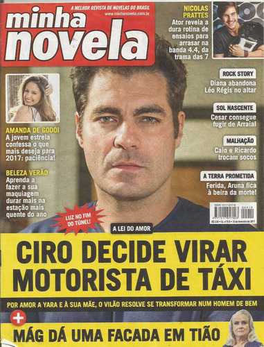 Revista Minha Novela 910 - Thiago Lacerda/sabrina/amanda